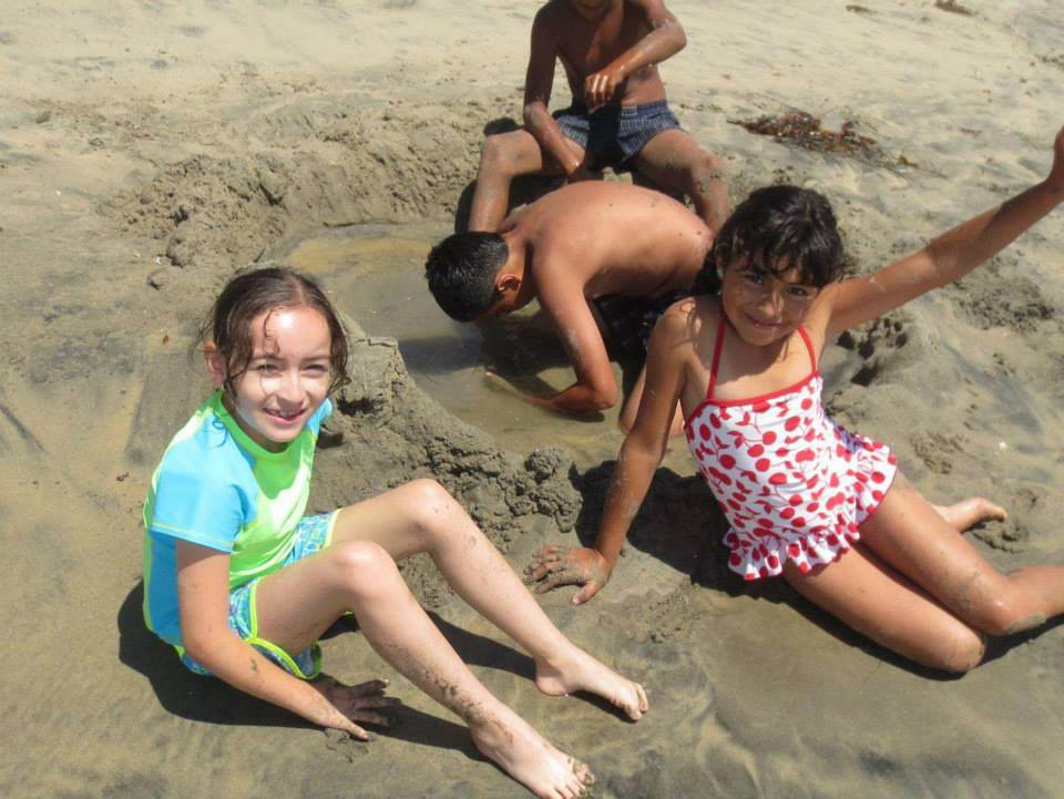 Responsibility Girls at the Beach