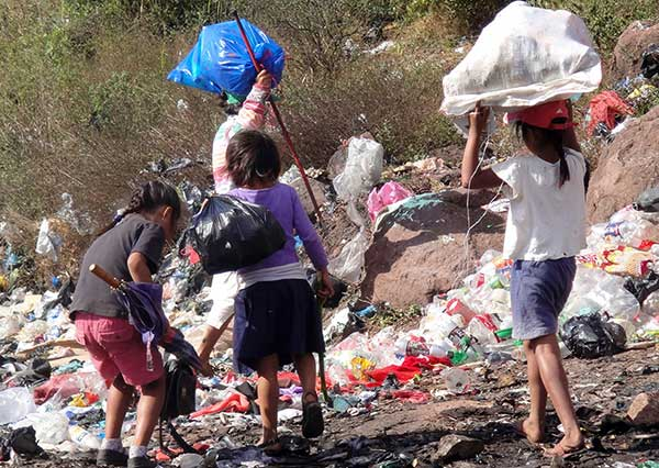 Children Picking Through Garbage Dump - Help Responsibility