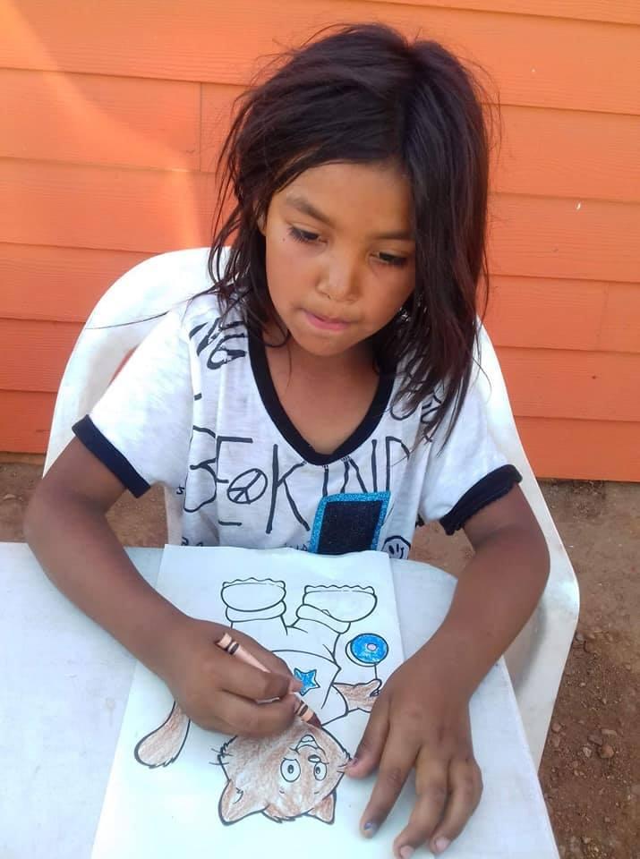 Children-In-Garbage-Dump-Responsibility-Girl-Drawing